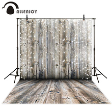 Allenjoy photography backdrop glitter dots bokeh wood wedding backgrounds original design customize photobooth