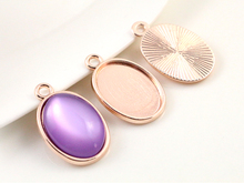 Buy 10pcs 13x18mm Inner Size Rose Gold Simple Style Cameo Cabochon Base Setting Charms Pendant necklace findings (D4-38) for $1.28 in AliExpress store