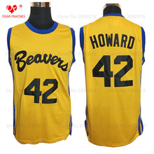 Wholesale Mens Cheap Throwback Basketball Jerseys #42 Howard Beavers Jersey Teen Wolf Retro Movie Stitched Basketball Shirt