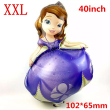 10pc/lot giant 102*65cm Sofia Princess Brand Helium Foil Balloon Kids Birthday Party Home Decoration Kid Gift foil ballon baloes
