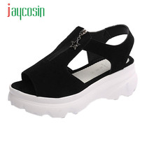 Jaycosin Elegance New Women Fish Mouth Shoes Summer Sandals Casual Platform Wedges Sandals Shoes 17Apr14 Dropshipping