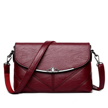 Buy Women Vintage Leather Striped Shoulder Bags Woman Designer High Crossbody Bag Ladies Sac Main Small Sheepskin Handbag for $19.35 in AliExpress store