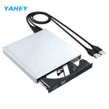YAHEY USB 2.0 External DVD-R Combo Optical Drive CD-RW Burner Writer DVD ROM Player for Computer Windows 2000/XP/Vista/7, MAC OS