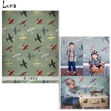 Cartoon Airplane Vinyl Photography Background Backdrop For New Fabric Flannel Background For Newborn photo studio Props 1662
