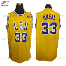 Mens Shaquille O'neal Cheap Throwback Basketball Jersey Shaq Oneal #33 LSU Tigers College & COLE HS Retr0 Jerseys Vintage Shirt(China)