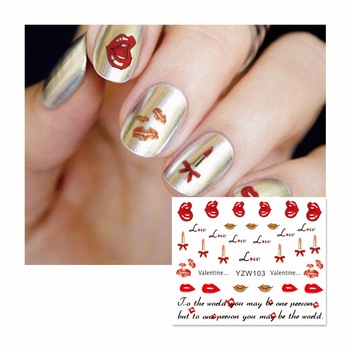 ZKO Cartoon Water Transfer Nail Art Stickers Decals For Nail Tips Decoration DIY Fashion Nail Art Accessories 103