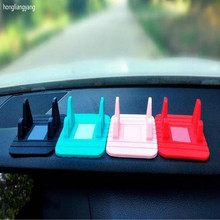 anti slip sticky gel pad phone holder sticky pad car gadget gel pads BLACK PINK YELLOW BLUE GREEN RED FREE SHIPPING(China)
