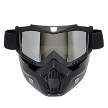 NEW Retro Motorcycle Goggles Glasses Face Dust Mask With Detachable Nose and Face Sunglasses Gafas Oculos Motocross Helmet(China)