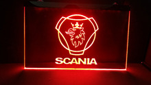 scania car Beer Bar LED Neon Light Sign hang sign home decor crafts(China)
