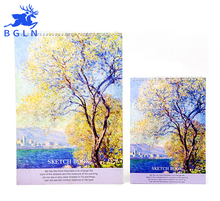 Bgln A3/A4 Claude Monet 36Sheets Sketch Book For Drawing Painting Professional Sketch Paper Book Art Supplies(China)