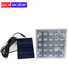 25pcs SOLSOLAR Portable Solar Lighting System Led Powered Light Work Time 7 Hours Solar Rechargeable Energy Led Bulb Halloween