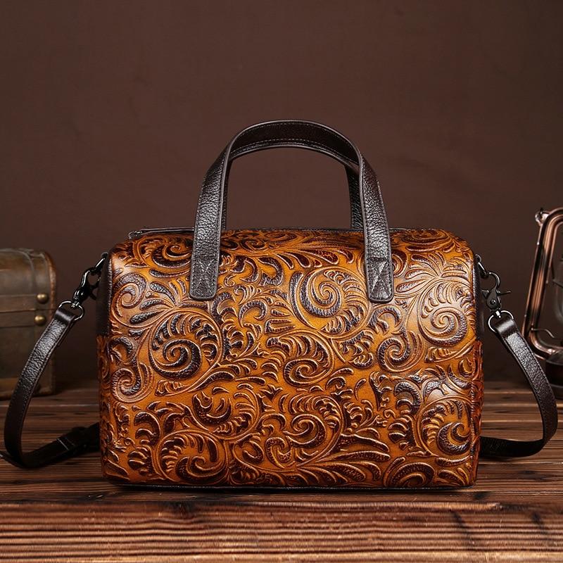 The new manual brush color bag Retro Leather Laptop Bag Leather Handbag bag head layer<br><br>Aliexpress