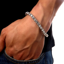Buy New Arrival Hip Hop Bling Cuban Link Chain Iced Rhinestone Silver Bracelet HipHop Chunky Jewelry Gift Box for $5.23 in AliExpress store