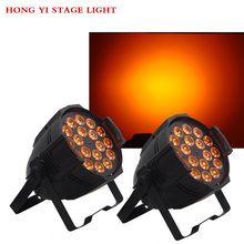 2pcs/lot Aleacion aluminio 18x12 W RGBW 4in1 LED Par Can dj Par64 spotlight