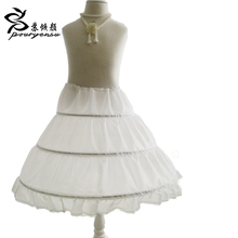 2016 New Three Circle Hoop Children Kid Dress Slip White Ball Gown Flower Girl Dress Wedding Accessories Petticoat