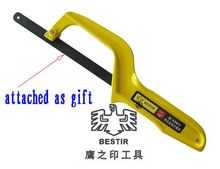 "BESTIR taiwan made yellow 10"" aluminium alloy hand mini hack saw with blade,NO.03411 freeshipping wholesale"
