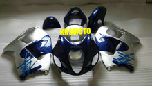 Injection Mold FAIRING KIT for SUZUKI Hayabusa GSXR1300 96 99 00 07 GSXR 1300 1996 1999 2000 2007 Silver blue Fairings set+gifts