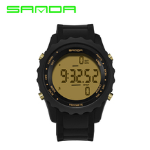Sanda Lover Luxury Brand Men Sports Watches Women Casual LED Digital Multifunctional Wristwatch Pedometer reloj hombre 2017(China)