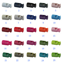 100pcs Pack Mixed Color Stopper Cord Lock Toggle Clip Plastic For Webbing & Cord Shoelace Backpack Garment Accessories #A047
