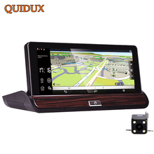 QUIDUX 7 Inch 1080P Car Truck DVR GPS Navigation 3G Android Dual Camera Recording Auto Video car Center Console Bus camera(China)