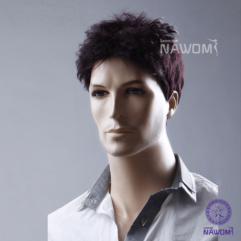 Hot Selling!Fashion Human Synthetic Wig,Men Short Curly Business Man Handsome Wigs High Quality 100% Japan kanekalon Hair<br><br>Aliexpress