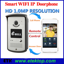 720P HD Home Surveillance Smart Wifi Wireless Video Doorphone Doorbell System Remote Control Real-time View Alarm IR LED
