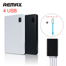REMAX Mobile Power Bank 30000mAh 4 USB Portable Charger External Battery Universal Backup powers For iPhone6s 5s plus iPad mini