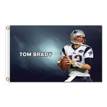 Tom Brady 12 New England Patriots Design Flag Football Banners 3ft X 5ft Banner Super Bowl Champions Custom Flag Nf*L Tom Brady(China)