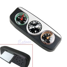 Guide Ball Car Boat Vehicles Auto Navigation Compass Hygrometer Thermometer 3in1 #H030#(China)