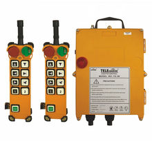 F24-8D AC/DC18V-65V (2 Transmitter + 1 Receiver) Double Speed Radio Industrial Hoist Crane Wireless Remote Control(China)