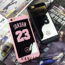 Michael Jordan 23 Phone Cases Coque Fundas for iPhone 6 6S 7 Plus Silicon Soft Mirror Covers for iphone SE 5 5S Case