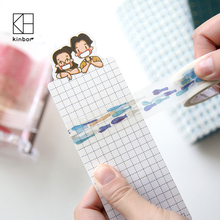 Happy Couple Cartoon PVC Washi Tape Storage Board Creative DIY Tool Japanese Masking Tape Carry Tools for Hobo Notebooks