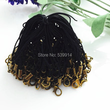 100 Pcs/Lot Black 7cm Cell Phone Lanyard Cords Strap Lariat Mobile Lobster Clasp Diy Accessories