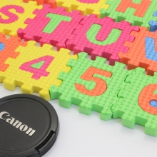 36pcs a lot  English letters and numbers eva puzzle education