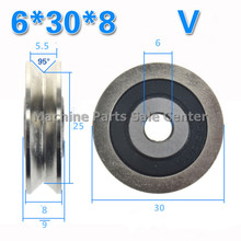 6 * 30 * 8 V groove groove all steel wire pulley Z6 guide track embedded bearing pulley TU TV0630