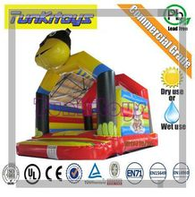 Funny party clown inflatable bouncy castle with slide for sale/inflatable jumper bounce for sale