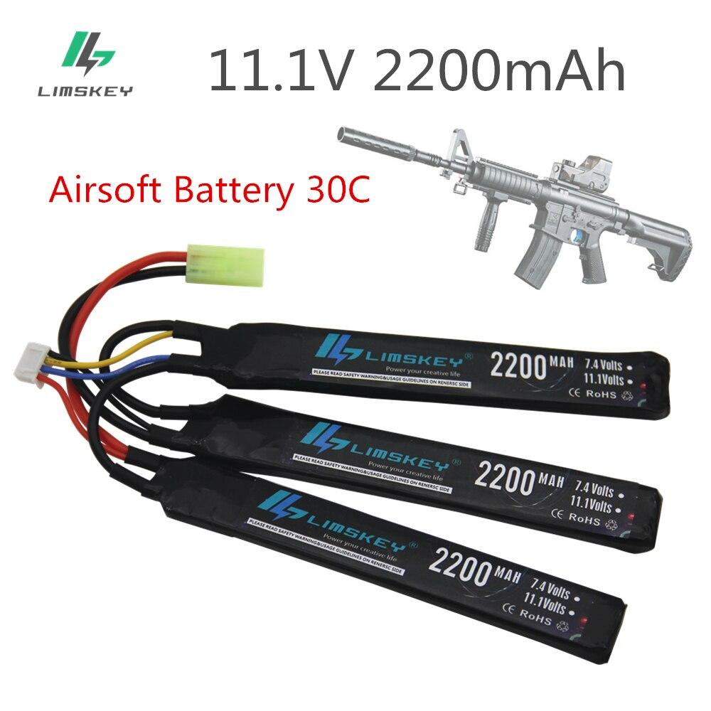 RC Lipo battery 11.1V 1200MAH 30C 3S AKKU Mini Airsoft Gun Tamiya T XT60 EC5 TRX