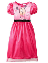 Perfect Quality Minnie Princess girls childrens kids dress dress-up summer short sleeve girl fancy dresses fancy costume cosplay