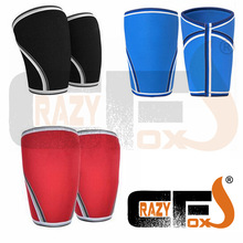 [A PAIR / 2 pieces] 7mm Custom compression 7mm neoprene knee sleeve / CROSSFIT WEIGHT LIFTING sleeve(China)