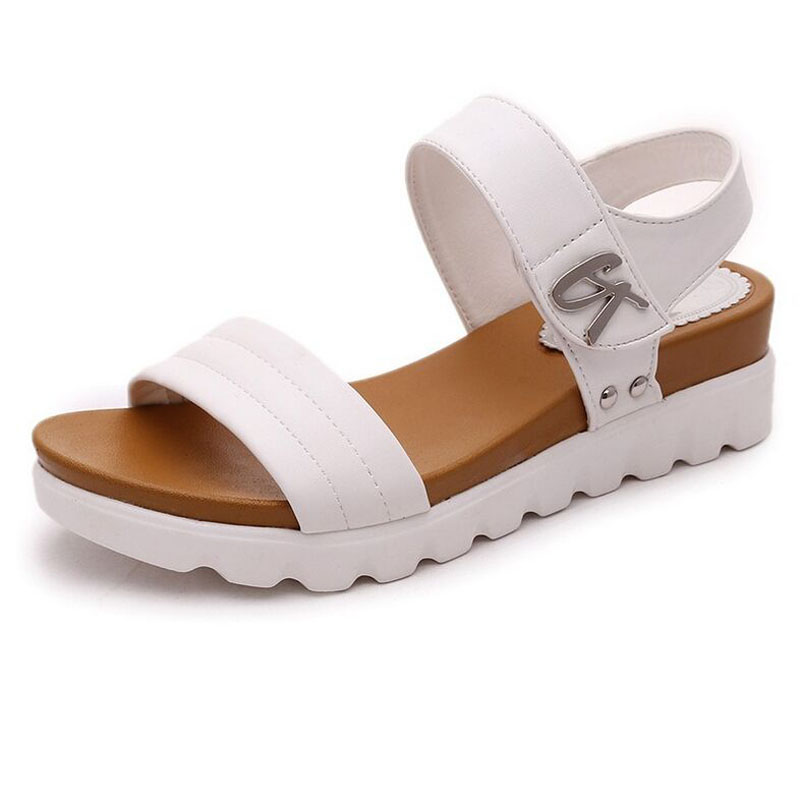 Gladiator Womens Sandals Open Toe Academic Style summer sandals wedges shoes Hook Loop Height Increasing sandals female <br><br>Aliexpress
