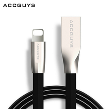 ACCGUYS Zinc Alloy 8Pin Data Sync USB Cable for iPhone 6 6S Plus Charging Charger USB for iPhone5 for iphone7 iPad iPod Cord