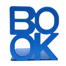 Fashion Top 2016 Hot Sale Cute Nonskid Bookends Art Bookend Bookcase  Wholesale Blue