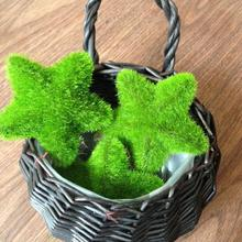 Wedding Car Decoration Artificial Grass Stars Heart Shaped Round Balls Ornaments For Props Shooting Simulation Flowers 5pcs
