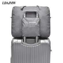 LDAJMW Waterproof Large Capacity luggage Packing Tote/Shoulder Travel Shopping Big Bag Folding Clothes Storage Pouch Organizer