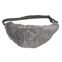 0be58e8e8a494 Women Faux Fur Fanny Pack Brown Gray Fur Chest Bag Small Waist Bag for Girl  Unisex Couple Luxury Fashion Shopper Handbags  40B
