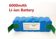 Best 14.4V 6000mAh Li-ion Battery for iRobot Roomba 500 532 540 550 560 570 580R3 510 535 562 610 700 780 770 760 cleaner(China)