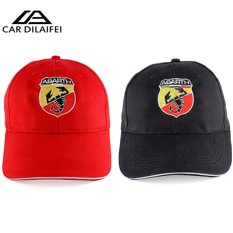3a4bf52cb9f for Abarth Hat Cap Car Sline Logo Moto Racing Baseball Cap Adjustable  Casual Hat