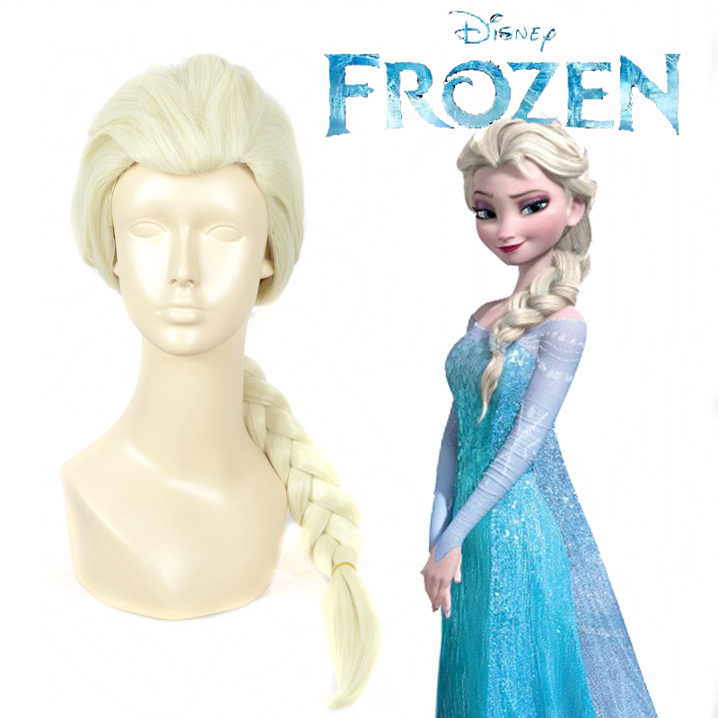 New Synthetic Hair Wigs Elsa Braid Costume Anime Cosplay Wigs + Wig Cap Party Wigs<br><br>Aliexpress