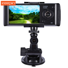New Dual Camera Car DVR R300 with GPS and 3D G-Sensor 2.7 inches TFT LCD X3000 Cam Video Camcorder Cycle Recording Digital Zoom