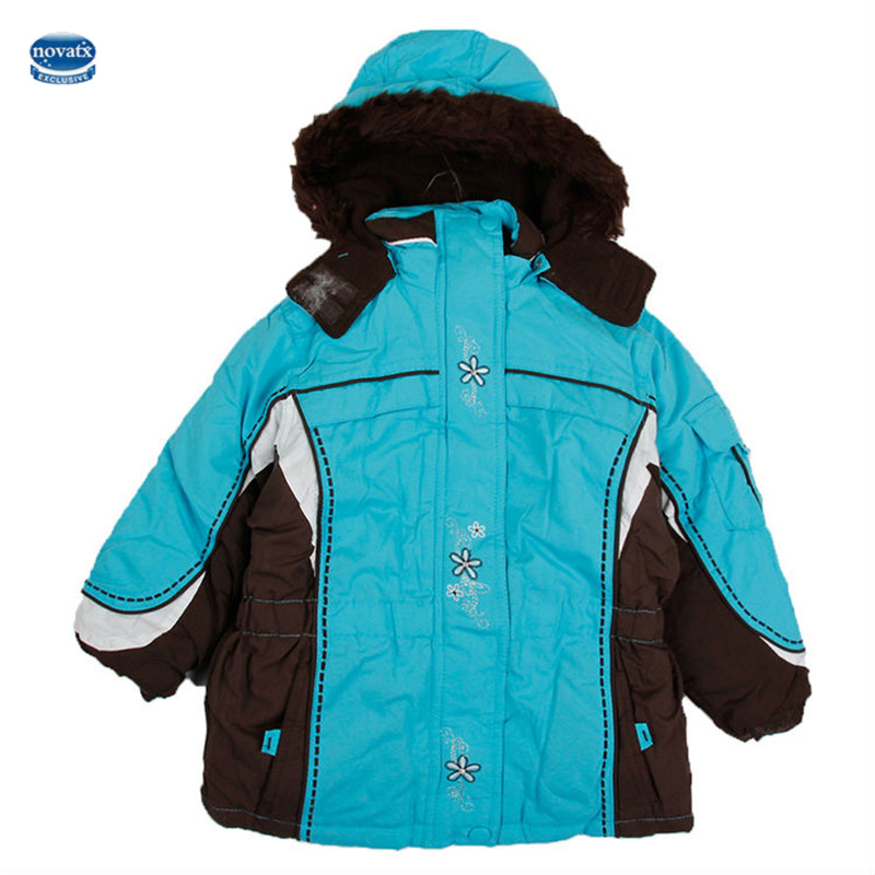 novatx girls winter coats children' jacket for girls hoodies children winter outerwear down jacket for girls(China (Mainland))